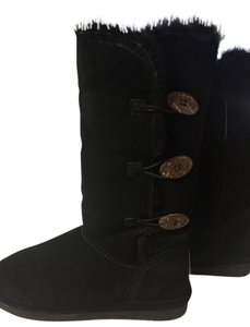 Bearpaw Ugg Shearling Boot Boot Black Boots