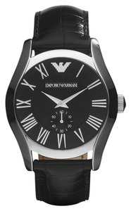 Emporio Armani 100% Brand NEW in the BOX AUTHENTIC EMPORIO ARMANI MEN'S BLACK LEATHER WATCH AR0643