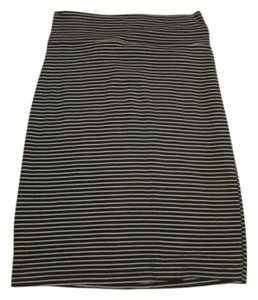 American Apparel Skirt Black and white stripes