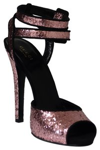 Gucci 353774 Glitter Soft Pink Sandals