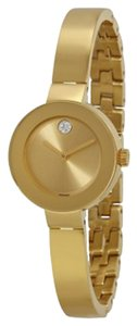 Movado Gold Ion Plated Stainless Steel Designer ladies Dress Watch
