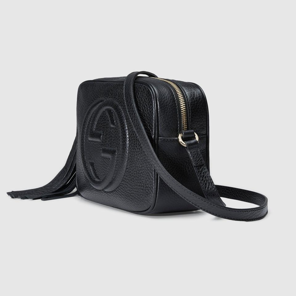 53f03d9d6cf8 Gucci Shoulder Soho Disco Textured-leather Black Leather Cross Body ...