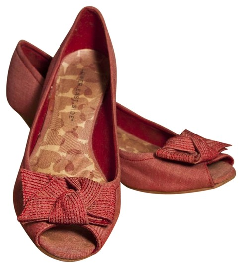 Other Peep Toe Lower East Side Heel Spring Red Flats