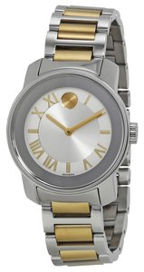 Movado Two Tone Gold and Silver tone Stainless Steel Designer Dress Watch