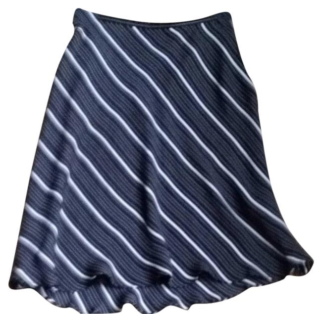 Petite Sophisticate Skirt Black And White