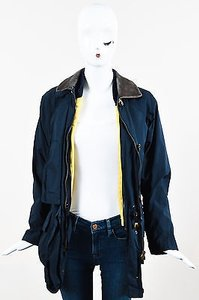 Loro Piana Vintage Navy Nylon Removable Lining S Blue Jacket