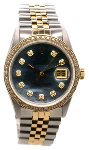 Rolex Rolex DateJust 16013 2-Tone 18k YG /SS Diamond MOP Unisex Watch