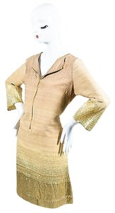 short dress Gold Shamask Tan Woven Knit on Tradesy