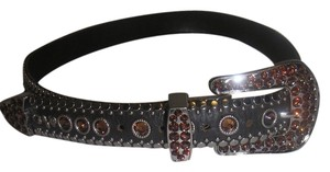 Kippys KIPPYS Size 32 BIG COWBOY Swarovski BLACK LEATHER BELT