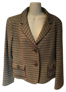 Talbots Wool Jacket brown & cream Blazer