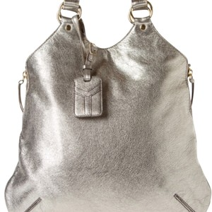 Saint Laurent Ysl Tribute Tote in Pewter