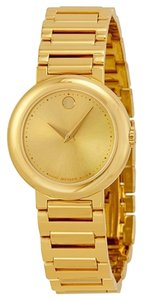 Movado Gold tone Stainless Steel Designer ladies Dress Watch