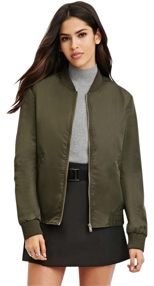688b81e78 Forever 21 Olive Bomber Green Military Jacket Size 4 (S) 4% off retail
