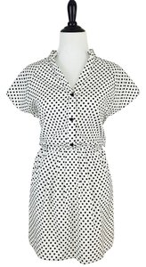 Alice + Olivia short dress Black / White Polka Dot on Tradesy