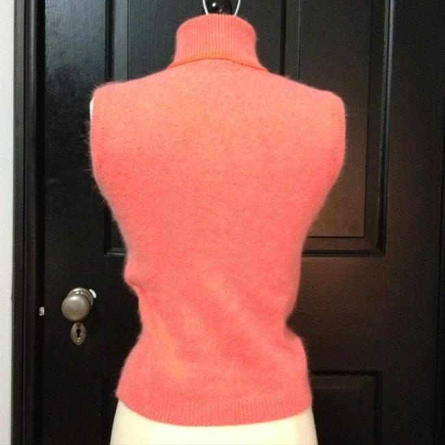 Other Pompoms Sleeveless Turtleneck Wool 1950 1960 Retro Pinup Sweater