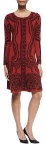 Etro A-line Long Sleeve Print Dress