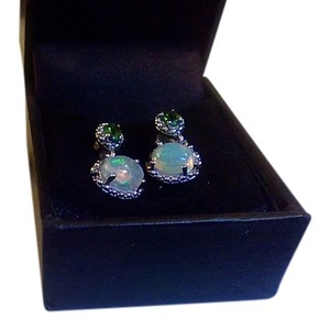 Welo Ethiopian opal chrome diopside Earrings