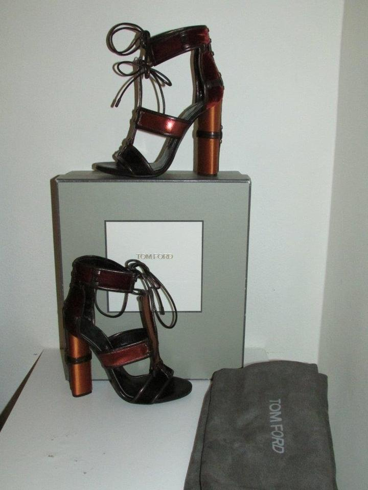 19398b5d7f27 Tom Ford Patchwork Cage Metallic Velvet Sandals Size US 12 - Tradesy