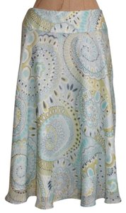 Talbots Chiffon Paisley A-line Lined Skirt MULTI COLOR