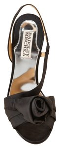 Badgley Mischka Slingback Satin Black Formal