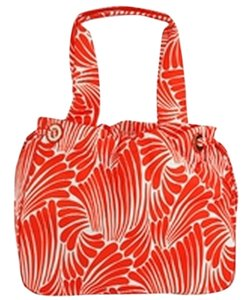 Kate Spade Bright Casual Summer Spring Tote in Orange, White