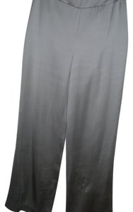Talbots Silk Dress Office Date Night Silk Trouser Pants gray