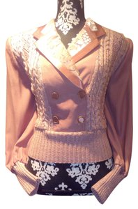 Audrey Ma Vintage 80s Knit Crochet Sweater