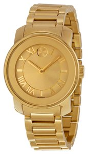 Movado Gold tone Stainless Steel with Champagne Dial Designer Dress watch