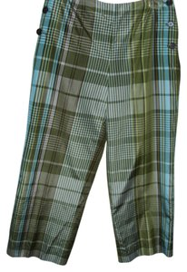 Talbots Silk Straight Pants plaid