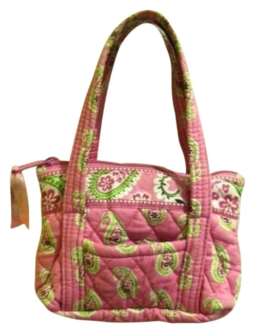 Item - Pink Multi Quilted Cotton Satchel