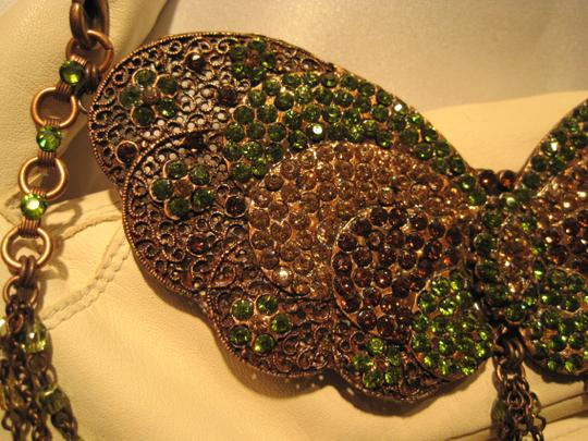 Other Jeweled Copper Filigree Butterfly Necklace - [ Roxanne Anjou Closet ]