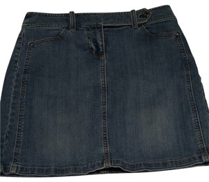 Ann Taylor Skirt Distressed Denim