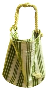 Abercrombie & Fitch Tote in green/white stripe