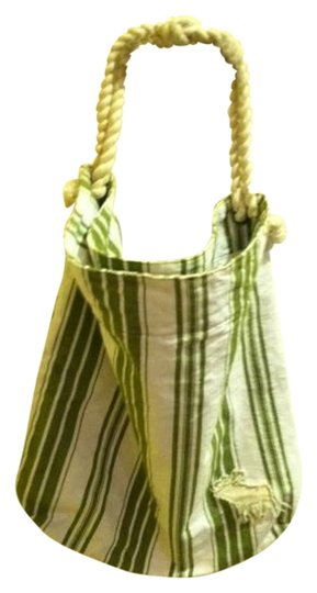 Preload https://item3.tradesy.com/images/abercrombie-and-fitch-greenwhite-stripe-cotton-canvas-tote-1443297-0-0.jpg?width=440&height=440