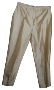 Alfani Silk Dress Work Designer Trouser Pants beige