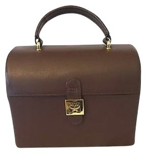 MCM Vintage Leather Trunkcase Satchel in Brown