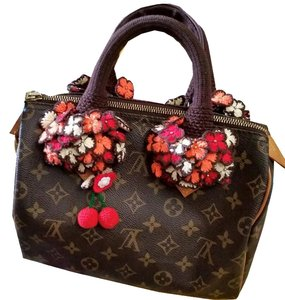 Other Handmade Handle Covers For Louis Vuitton Speedy Alma trouville montaigne Deauville Crochet Brown