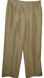 Talbots Outstanding Silk Dress New Pretty Trouser Pants beige