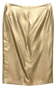 Ralph Lauren Polo Metallic Pencil Skirt Silver