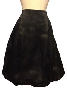 Heicke Jarick Bubble Evening Formal Silk Pleated Skirt Black