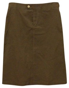 Gucci Cargo Italian Buckles Pockets Skirt Brown