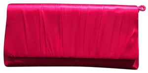 La Regale Ruching Formal Night Out Hot Pink Clutch