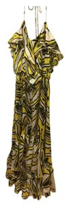 Yellow & White Maxi Dress by T-Bags Los Angeles