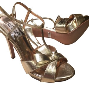 Badgley Mischka Gold Formal