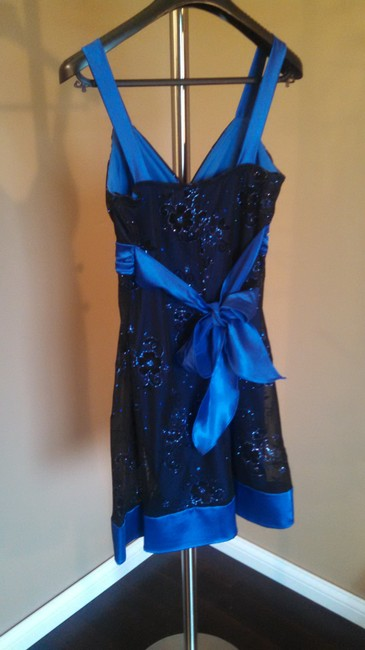DEB short dress blue Glitter on Tradesy