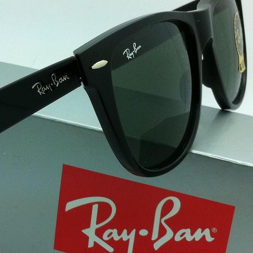 8af2801c1a Ray-Ban Rb 2140 901 54-18 Wayfarer Black Frame W  Green Lenses New W   Sunglasses - Tradesy