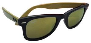 Ray-Ban New RAY-BAN WAYFARER Sunglasses RB 2140 1173/93 50-22 Black Frame w/ Gold Mirror