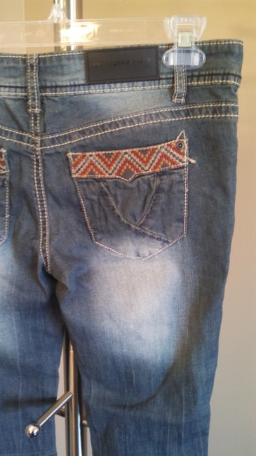 Rue 21 Embroidered Flare Leg Jeans-Light Wash