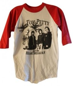 Vintage Tom Petty And The Heartbreakers Tom Petty Red And White T Shirt Baseball Tee