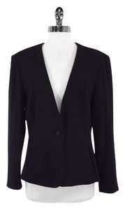 Emanuel Ungaro Black Structured Wool Blazer